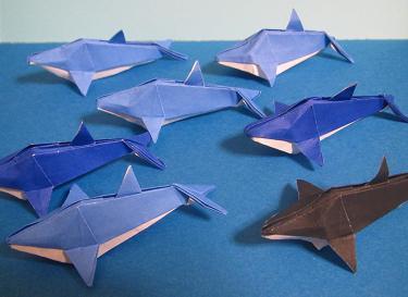 折り紙×イルカ♪:LOVE☆HandMade ... : アニメ折り紙折り方 : 折り方