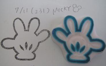 消しゴムはんこ231ミッキーハンドlovehandmadeso Netブログ